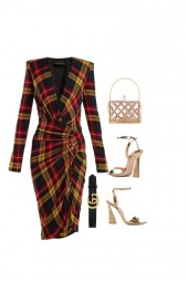 The Lady evening look for a Apple shape