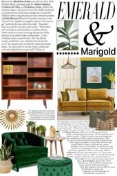 Interior Design:  Emerald & Marigold