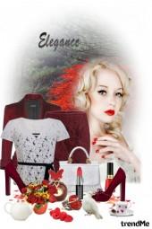 Autumn elegance in lace