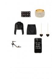 black vintage outfit