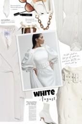 #1 ▲ White on white