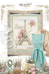 Aqua & beige - vintage dreams