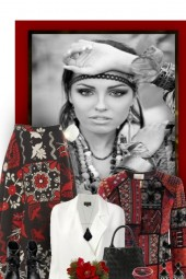 Boho Red, White & Black