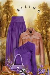 purple & brown