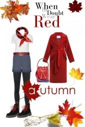 Herbstlichen Rot