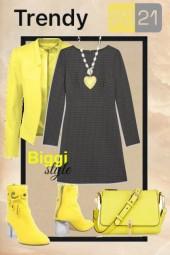 Trendy yellow