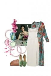 Kimono sobre blanco