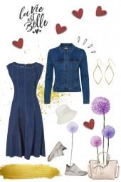 Take 1, make 5 - denim dress -  La vie est Belle