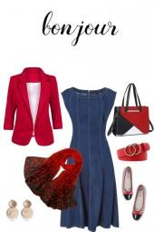 Take 1, make 5 - denim dress -  Bonjour