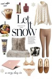 A cozy, snowy day in