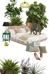 Bedroom with jungle theme
