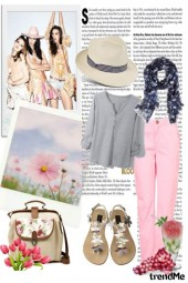 Vintage girl in summer time