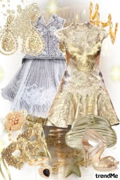 Dress: Gold and Silver