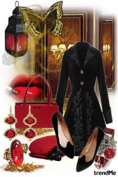 Vintage Black and Red