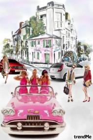 Girls Drive A Pink Car
