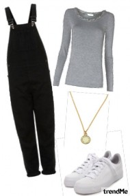 Zoella: Black Overalls, Bunny Shoes