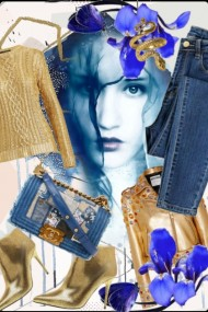 Denim and gold 10-4