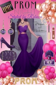Dazzling Purple Prom Night