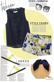 Gucci sandals, D&G shades