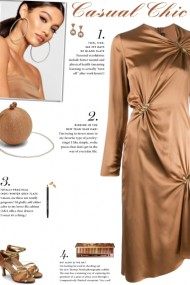 How to wear a Brooch Embellished Satin Dress!