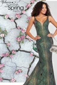 sexy sleek spring gown