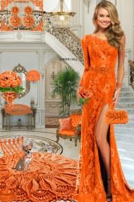 Серьги. Принцесса. Оранжевый. Интерьер