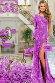 Серьги. Принцесса. Фиолетовый. Интерьер