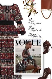 Folk Art Cutout-Detailed Dress