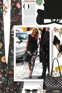 REDVALENTINO Floral-printed silk pants