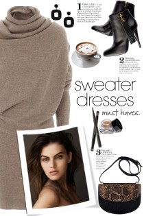 Taupe Sweater Dress!