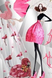 Flamingo skjørt og topp