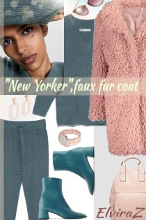 """New Yorker"",faux fur coat"