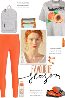 How to wear a Peach Graphic Oversized T-Shirt!