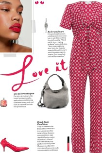 How to wear a Printed Gathered Knot Jumpsuit!