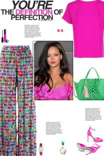 How to wear an Abstract Print High Waist Trousers!