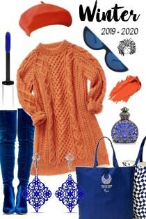 ORANGE SWEATER DRESS ././././.