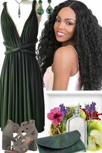 APRIL CHEER GREEN DRESS