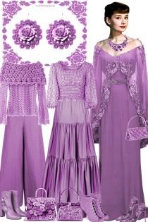 Серьги. Розы. Фиолет