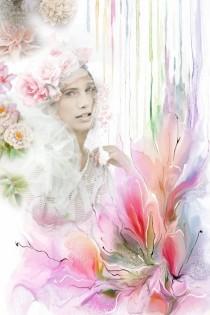 A portrait in watercolour