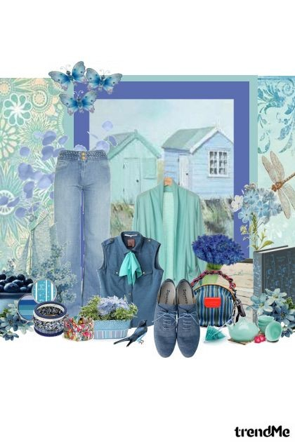Little blue house- Fashion set