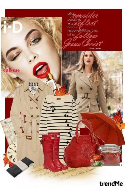 crvena JESEN- Combinaciónde moda