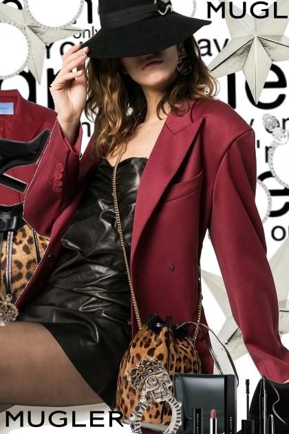 Saint Laurent Iconic Leather Leopard Bag- Fashion set