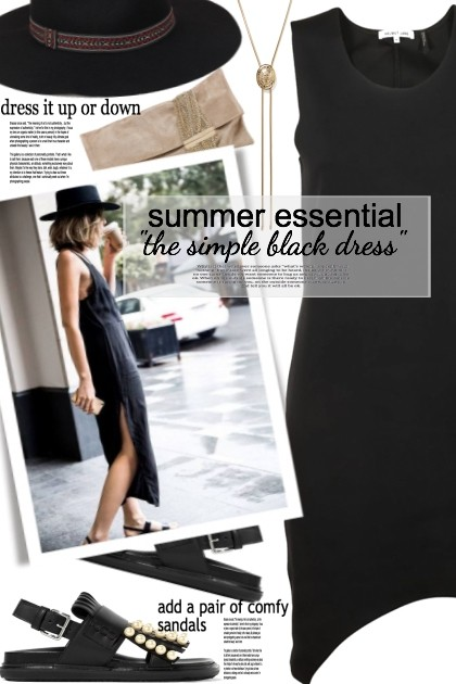 The simple black dress- Modna kombinacija