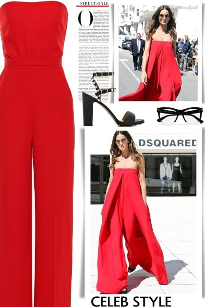 56a6aad2dfe Izabel Goulart Red Valentino Jumpsuit Streetstyle - Style Collection ...