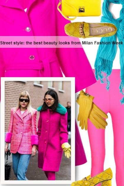 Street style: the best beauty looks from Milan F- combinação de moda