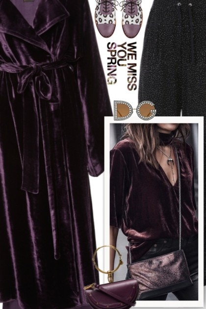 BURGANDY bliss- Fashion set