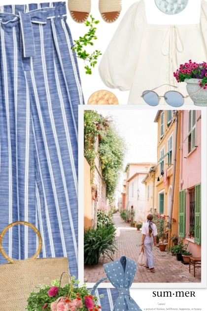 Villefranche-sur-Mer, France- Модное сочетание