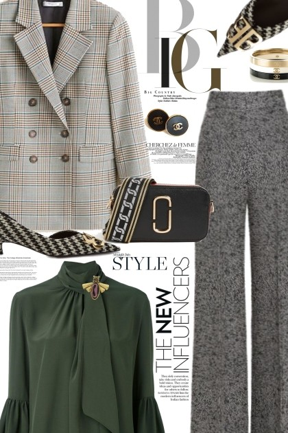 Houndstooth and Plaid- Fashion set