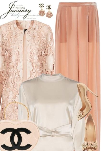 Peach Lace- Fashion set