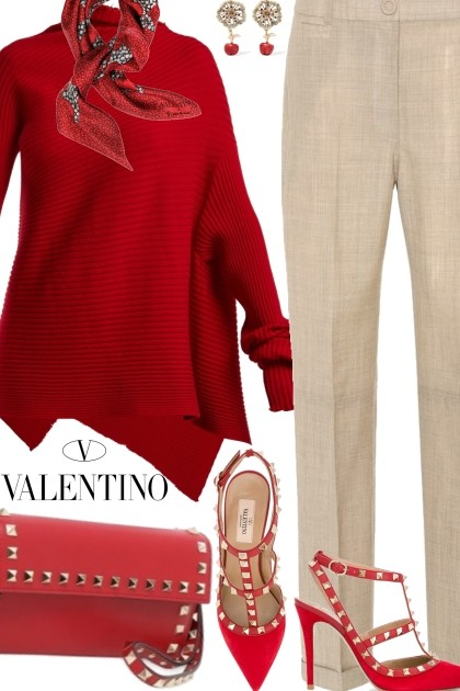 Valentino Scarf- Fashion set